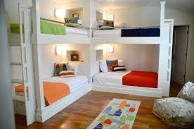 17 Super Smart Ideas For Decorating Kids Room With Four Beds