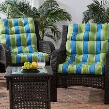 outdoor high back dining chair cushion