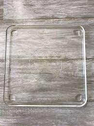 11 square replacement microwave oven use only clear pebbled glass tray