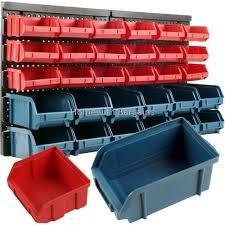 garage storage boxes. Interesting Boxes 30pc Storage Bin Kit Wall Mounted Garage Warehouse Tools Parts Rack  Board Amazoncouk DIY U0026 Tools On Garage Boxes E