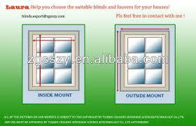 Fixing Magnet On Internal Raise And Lower Mini Blind Door Glass Inner Window Blinds