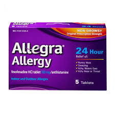 Allegra Allergy Relief - Tablets- 5 ct