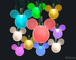 Mickey Shaped Christmas Lights Color Whirl Led Light String Featuring Disney Mickey Mouse