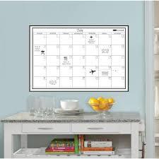 white monthly calendar memo board