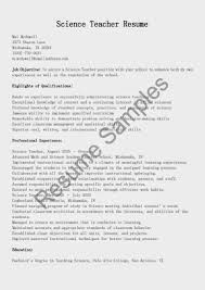 Free Download Sample Science Teacher Resumes And Cover Letters
