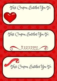 Free Print Coupons Print Out These Gift Coupons For Your Family Or Friends 3 X 2 Inch