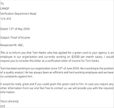 Proof Of Income Letter Samples 10 Examples In Word Pdf Format