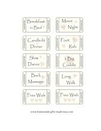 Printable Love Coupons For Him Instant Download By Romantic Coupon