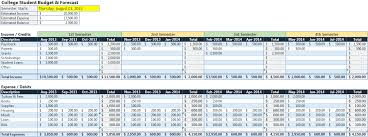 how to budget as a college student college student budget forecast template robert mcquaig blog