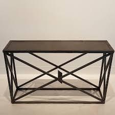 restoration hardware metal console table