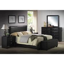 details about platform queen size bed upholstered brown leather headboard bedroom furniture
