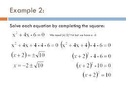 5 completing the square