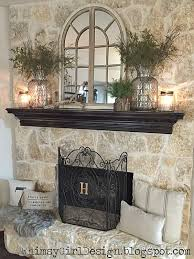 a few key pieces like the glass jars and driftwood decor from pertaining to stone fireplace designs 3