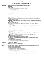business admin resume business systems administrator resume samples velvet jobs