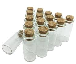 clear mini glass jars wishing bottles with cork stoppers 10ml diy herb sand art small decorative glass bottles message craft for wedding party favors pack