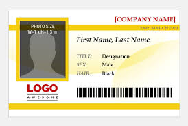 Company Id Badge Template Magdalene Project Org