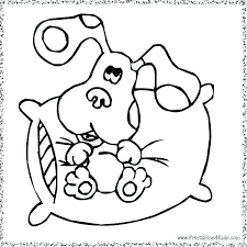 Free Printable Coloring Pages Of Blues Clues Page Nap Pillow Stockware