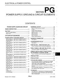 2011 nissan 370z power supply ground circuit elements 2011 nissan 370z power supply ground circuit elements section pg 120 pages