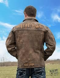 distressed chocolate leather tuff fest jacket