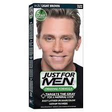 just for men original formula men s hair color light brown pack of 3