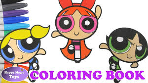 The Powerpuff Girls Coloring Book Buttercup Bubbles Blossom ...