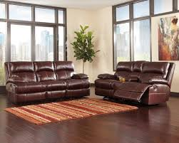 Ashley Leather Reclining Sofa And Loveseat