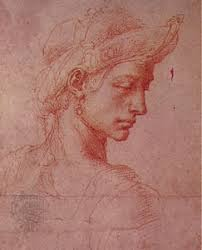 michelangelo biography facts accomplishments com profile oriental headdress sanguine drawing by michelangelo c 1522 in the