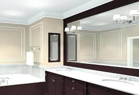 wall mirror bathroom ideas framed mirrors h in white impressive on large vani