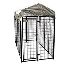 KennelMaster 4 ft x 8 ft x 6 ft Welded Wire Dog Fence Kennel Kit