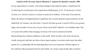 analysis of the excerpt queen elizabeth against the spanish  analysis of the excerpt queen elizabeth 1 against the spanish armada 1588 google docs