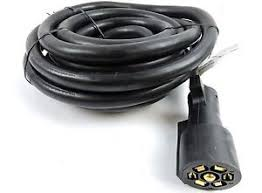7 wire trailer harness ebay Ford 7 Wire Trailer Plug Harness 15ft foot 7 way trailer cord wire harness light plug connector molded rv cable ford 7 wire trailer plug harness