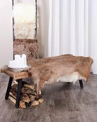 Faux Bearskin Rug Brown Bear Skin Accent Rug Sheepskin Animal Hide Faux Fur Area