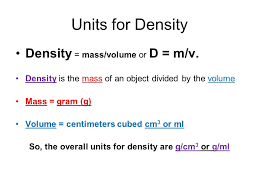 density equation chemistry. units for density \u003d mass/volume or d m/v. equation chemistry \