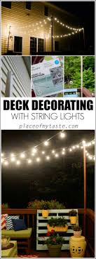 deck decorating with string lightsjpg bright ideas deck
