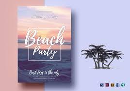 Word Template Flyers Beach Summer Party Flyer Template