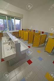 Preschool bathroom Classroom Bathroom For Little Children In The Preschool Without People Stock Photo 68519386 123rfcom Bathroom For Little Children In The Preschool Without People Stock