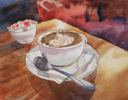 hot chocolate painting. Contemporary Painting Cuppa Cocoa Still Life Throughout Hot Chocolate Painting I