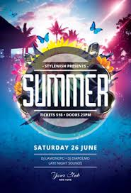 Summer Party Flyers Summer Flyer Templates Psd Design