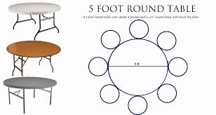 5 foot round table seats how many home design ideas