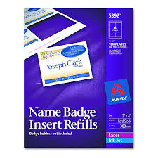 avery nametag avery dennison name badge insert refill f 5384 nme tag 300 box of 300 model 5392