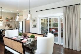 single ds for dining room sliding glass doors next to curtains ideas