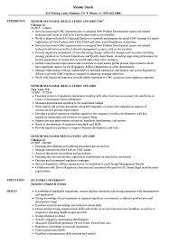 Senior Manager Regulatory Affairs Resume Samples Velvet Jobs