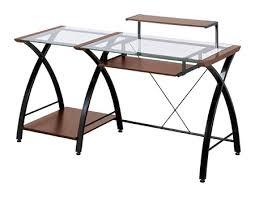 office depot desks glass. Z Line Designs Brisa Glass Computer Desk 36 H X 61 W 24 D Cherry By Office Depot \u0026 OfficeMax Desks S