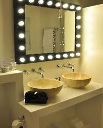 bathroom mirrors with lights in them. Vanity Lighting Ideas Bathroom Lighted Mirror With Two Wash Basin Ceramic Clean Rolling Tissue Towel Mirrors Lights In Them