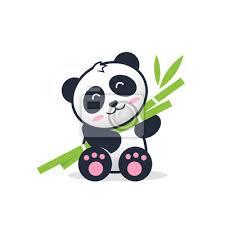 Descarga fotos de dessin mignon. Illustration De Dessin Anime Mignon Panda Nounours Autocollants Murales Faune Personnage Enfant Myloview Fr