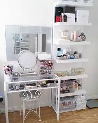 Makeup Vanity Ideas For Bedroom Images Best Set Up On Beauty Room Including  Attractive Bathrooms Small 2018