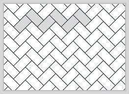 How To Layout Herringbone Pattern