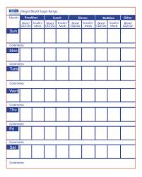 Diabetes Chart Tracker 32 Abiding Glucose Chart Printable
