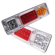 Discount Warning Lights Us 12 18 10 Off 2pcs 12v 24v Led Truck Tail Light Rear Lights Trailer Turn Signal Warning Light Lorry Caravan Stop Rear Tail Indicator Light In Car