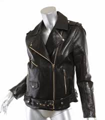 anine bing womens classic black leather moto motorcycle jacket coat gold zip s p anine bing womens classic black leather moto motorcycle jacket coat